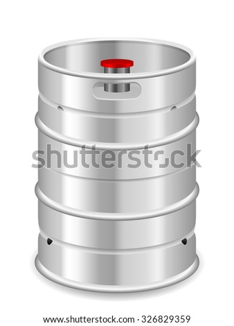Beer keg on a white background. - stock vector