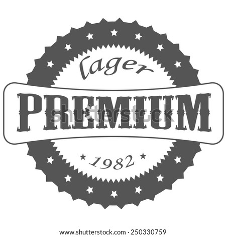 beer lager , logos and Images - stock vector