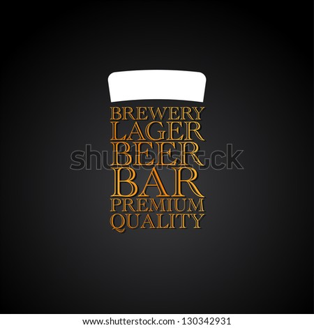 Beer Menu - Elegant restaurant theme - Vector Illustration - stock vector