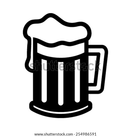 Beer Mug Vector Icon - stock vector