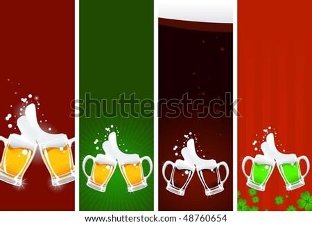 beer's banners - stock vector