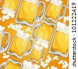 Beer Seamless Pattern - stock vector