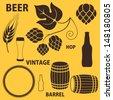 Beer. Set - stock vector