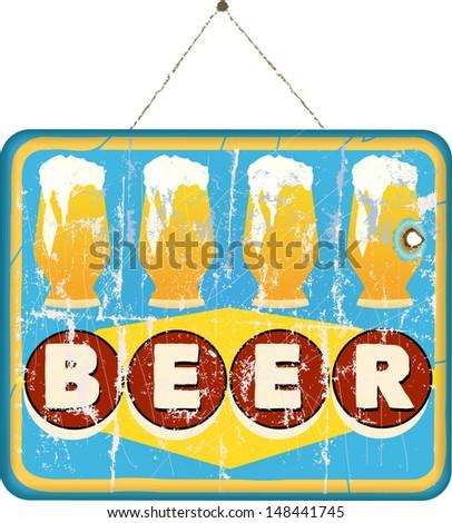 beer sign, vector - stock vector