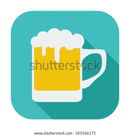 Beer. Single flat color icon. Vector illustration.