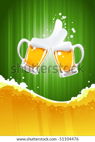 beer splashing - stock vector