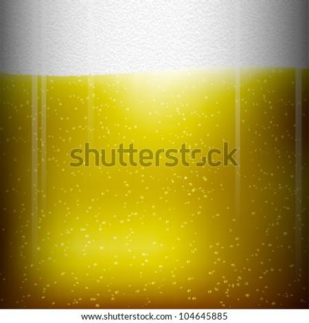 Beer texture. Vector background - stock vector