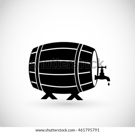 Beer/wine/whiskey barrel icon vector