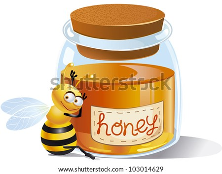 Bees are very fond of honey!