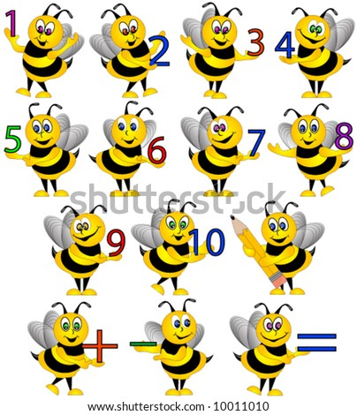 Bees with numbers.