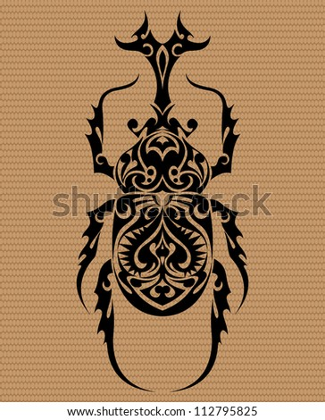 Beetle Tribal Tattoo 2