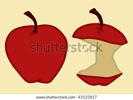 before and after apples