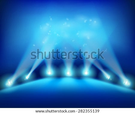 Beginning of the performance. Vector illustration. - stock vector