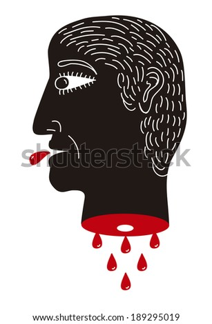 Beheaded - stock vector