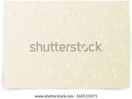 Beidge hand-made paper texture. Vector illustration. - stock vector