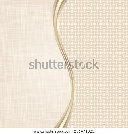 beige background divided into two - stock vector