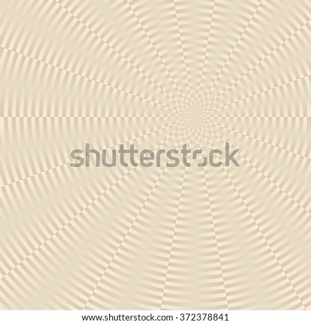 beige background with radial pattern - stock vector