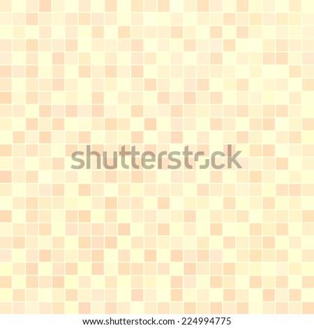 Beige ceramic tile mosaic in swimming pool - stock vector