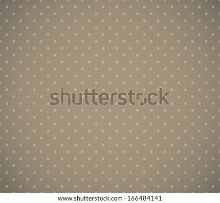 Beige dotted retro pattern. EPS10 vector background.