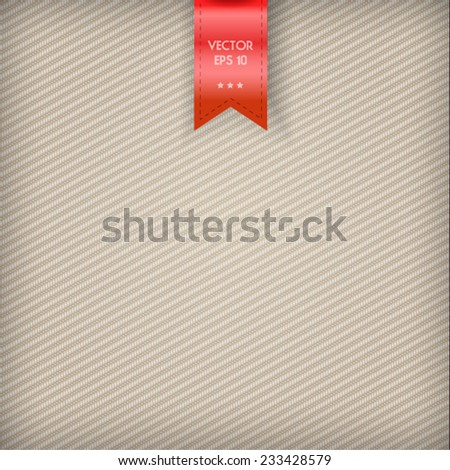 Beige fabric background. Vector Illustration. - stock vector