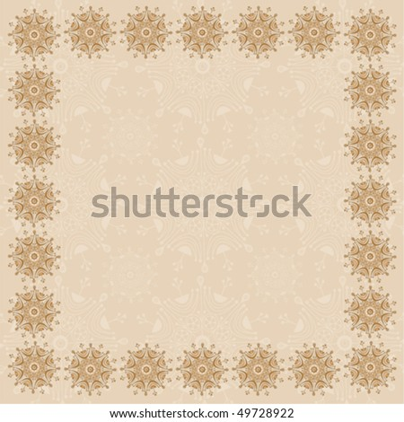 Beige Square Frame - One in a Series of Three - stock vector