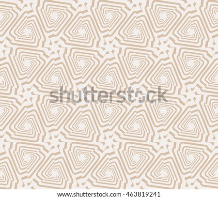 Beige tones. Abstract vector illustration with intricate geometric patterns. For interior decoration, textile industry, printing industry.