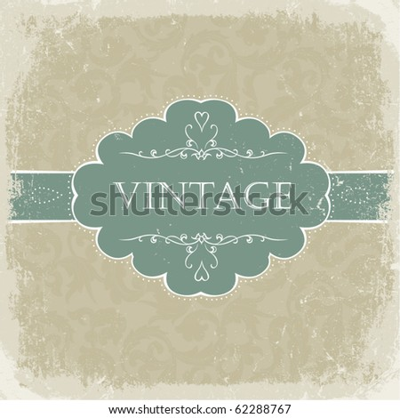 Beige vintage greetings. - stock vector