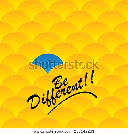 Being different, taking risky, bold move for success in life - Concept vector. This graphic also represents courage, boldness, enterprise, confidence, belief, fearless, daring, leadership, will power - stock vector