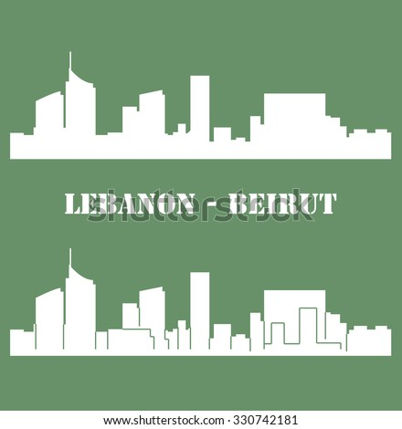 Beirut, Lebanon - stock vector