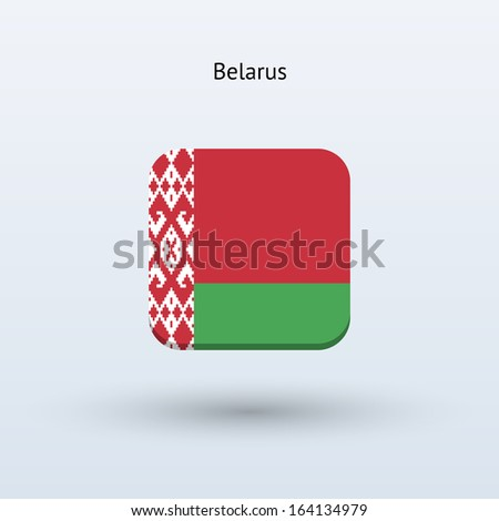 Belarus flag icon. Vector illustration. - stock vector