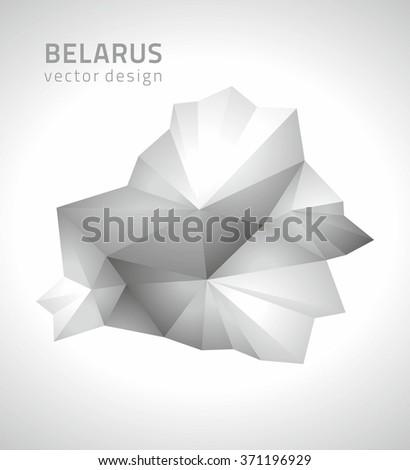 Belarus polygonal map - stock vector