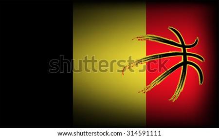 Belgian basketball, vector - stock vector