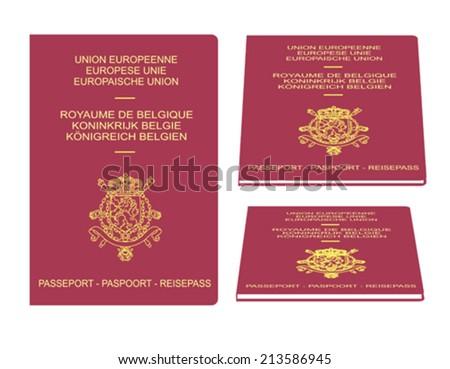 Belgian passport - stock vector