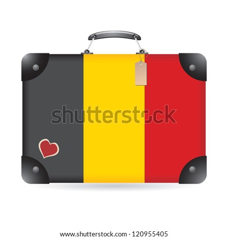 Belgium flag on bag