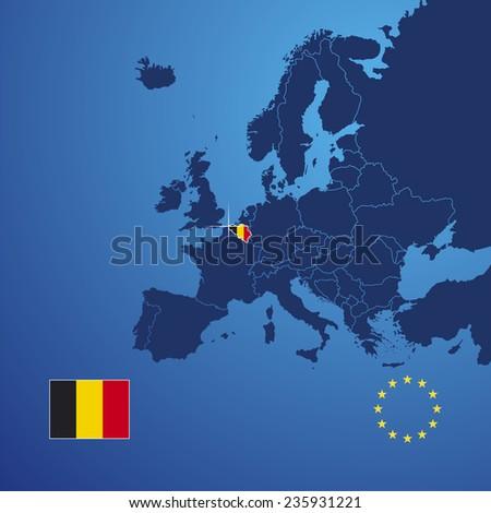 Belgium map cover vector - stock vector