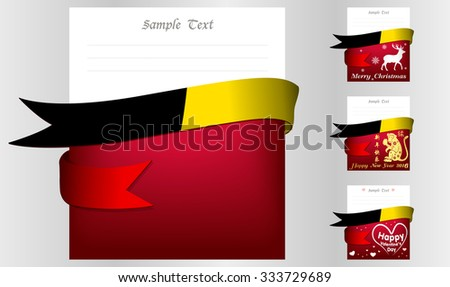 Belgium 's greeting card in big 3 festivals and their template vectors in eps10 - stock vector