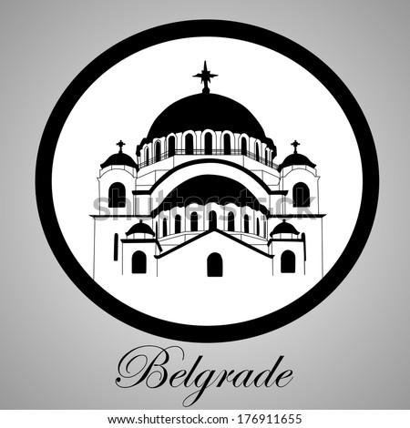 Belgrade city symbol - stock vector