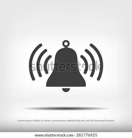 bell icon - stock vector