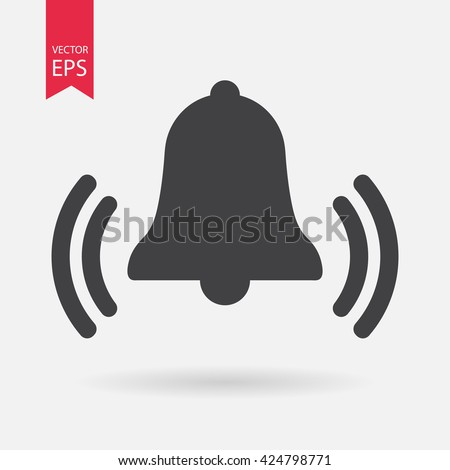 Bell Icon Vector Alarm Service Bell Stock Vector 424798771