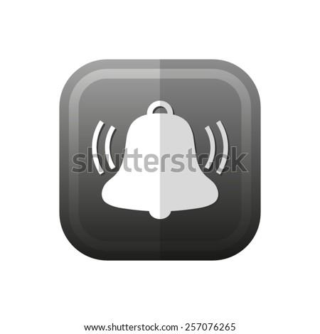 Bell  - vector icon, flat design - stock vector