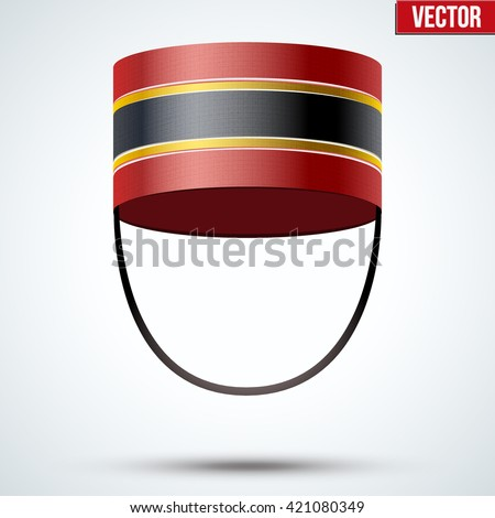 Bellboy Hat. Hotel resort service symbol. Vector Illustration isolated on a white background.  - stock vector
