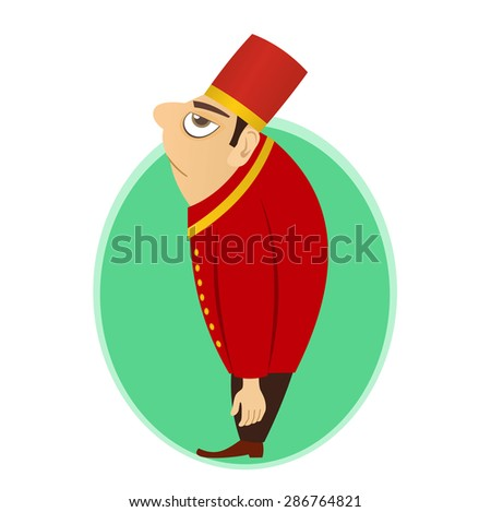 bellhop, bellboy, bellman or doorman is a hotel porter, who helps patrons with their luggage while checking in or out - stock vector