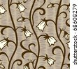 bells flowers seamless background - stock vector