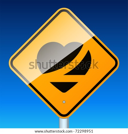 Belt up, save a life. High-detailed vector sign. - stock vector