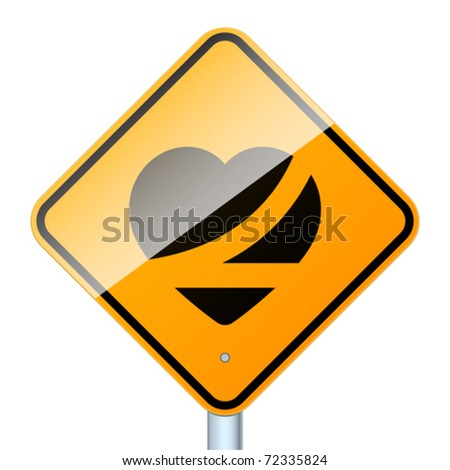 Belt up, save a life. High-detailed vector sign isolated on white background. - stock vector