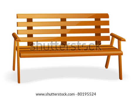 Bench isolated on a white background.