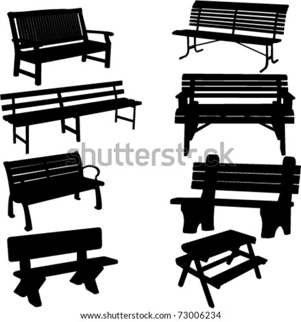 Park Bench Isolated Stock Photos, Park Bench Isolated Stock