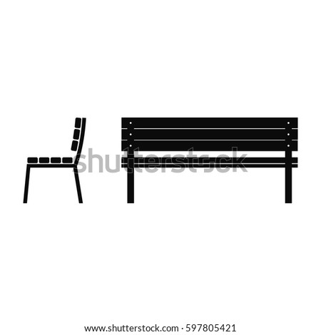 Bench Vector Illustration View Preview
