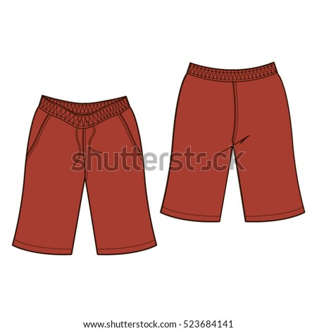 Bermuda Shorts Template