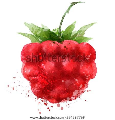 Berry vector logo design template. Raspberry or food icon. - stock vector